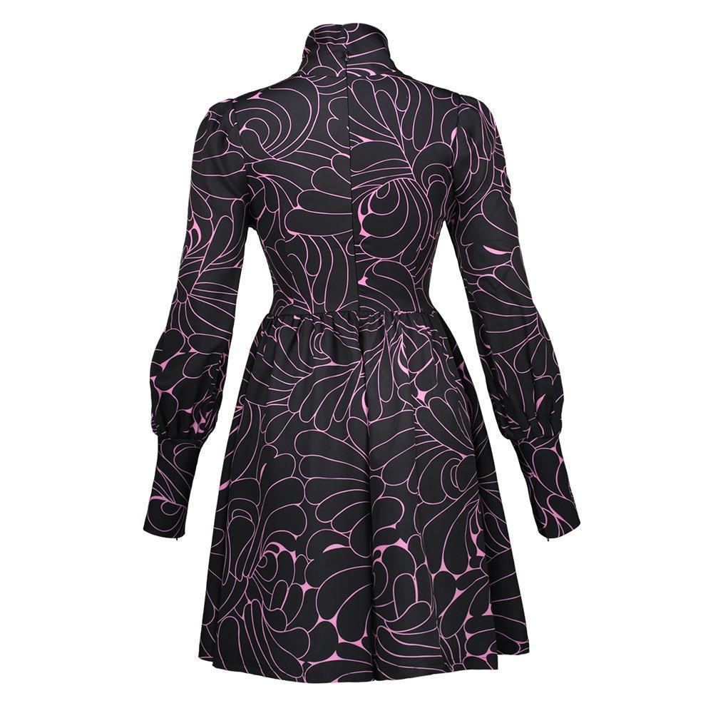 Elegant Medieval Style Purple Dress - The Black Ravens
