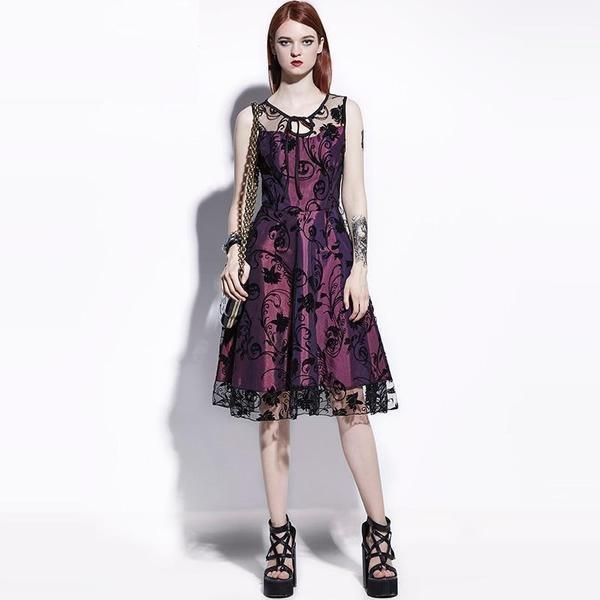 Elegant Vintage Party Lace Frock - The Black Ravens