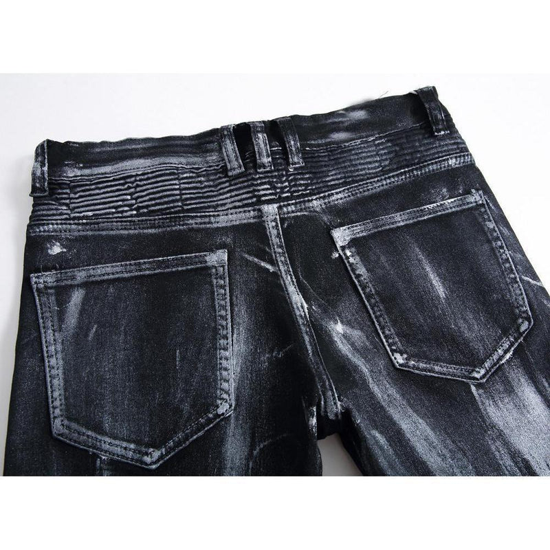 Emo Black Vintage Washed Jeans - The Black Ravens