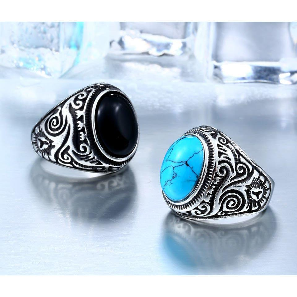 Eye-Catching Girls Punk Gemstone Silver Rings - The Black Ravens