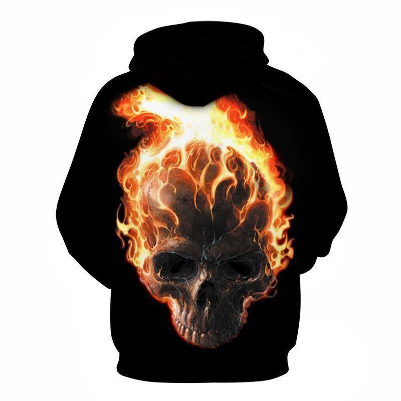 Flaming Ghost Rider Inspired Hoodie - The Black Ravens