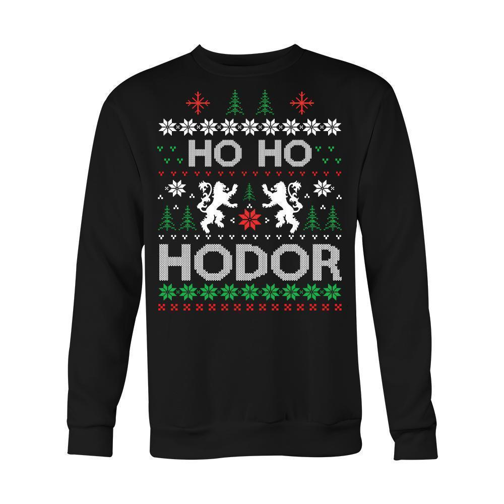 Fun Unisex Hodors Xmas Jumpers - The Black Ravens