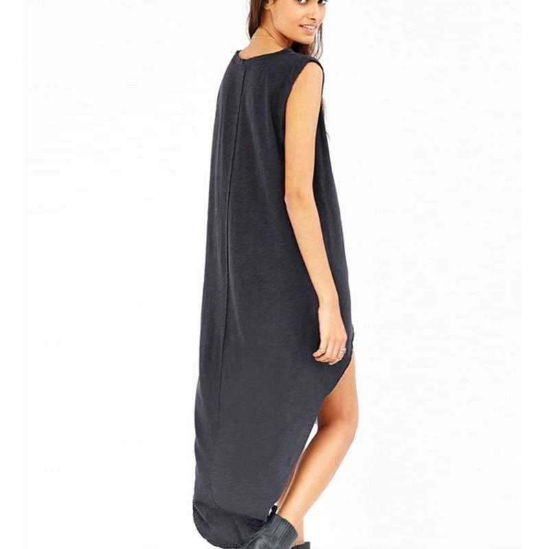 Geometric Moon Pattern Asymmetrical Dress - The Black Ravens