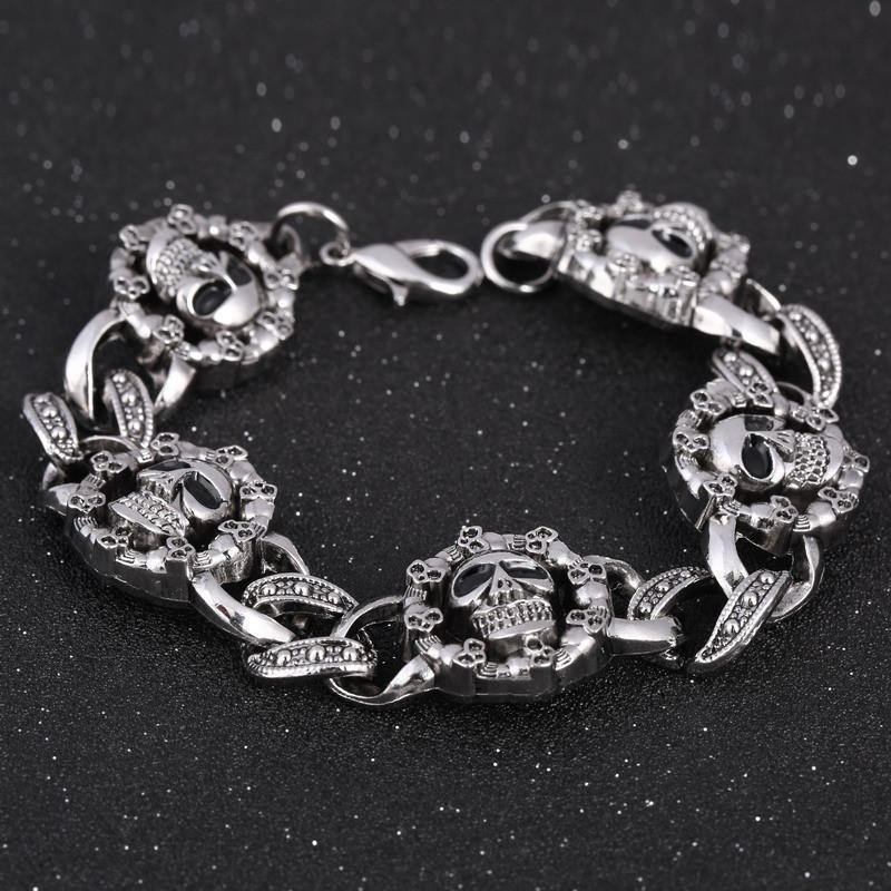 Girls Adorable Crystal Skulls Bracelets - The Black Ravens