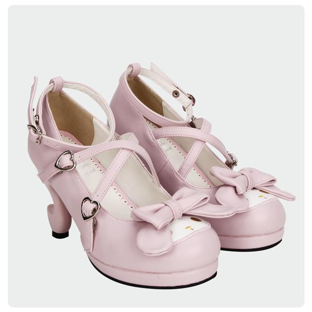 Girls Cute Bunny Rabbit Bow Lolita Shoes-Fantasy Heel-5-