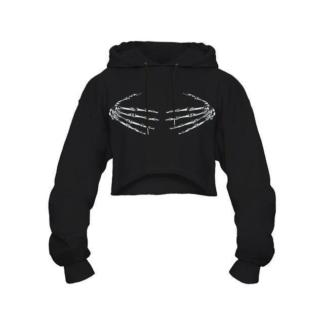 Girls' Streetwear Skull Hoodie - The Black Ravens