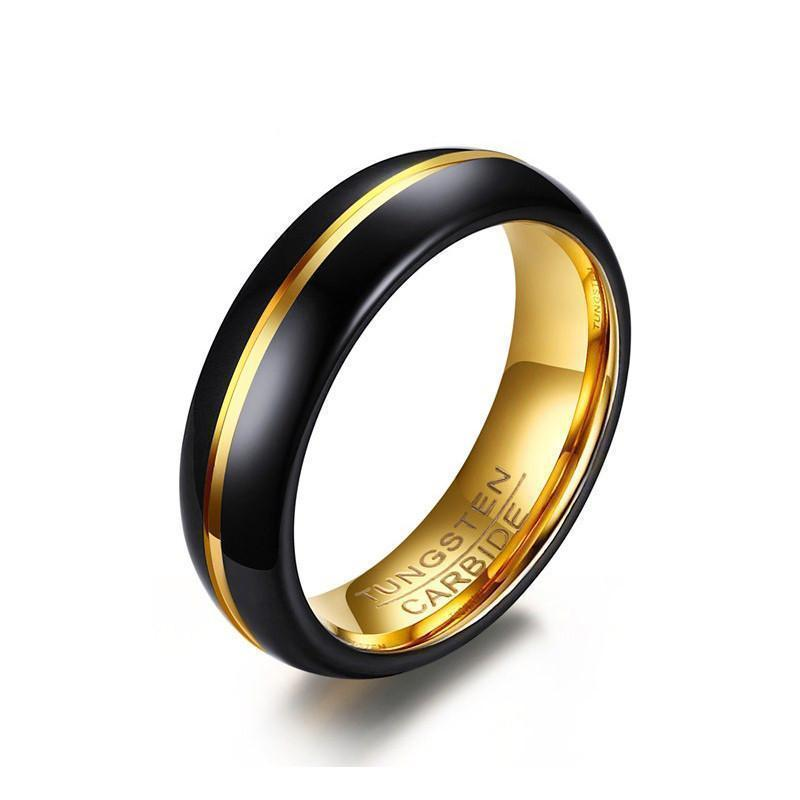 Golden Carbide Band For Men and Women - The Black Ravens