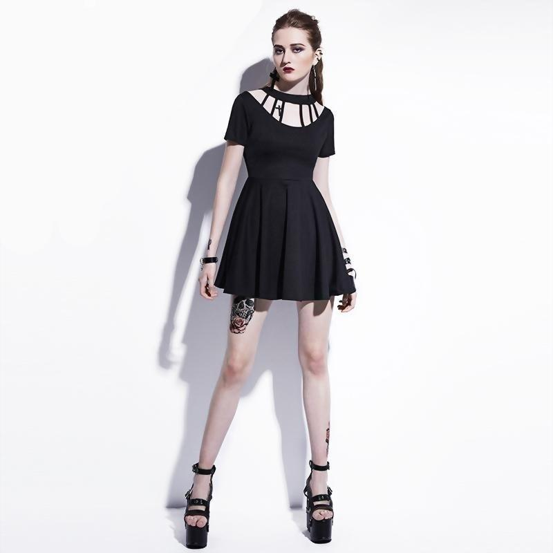 Gothic Backless Summer Street Mini Dresses - The Black Ravens