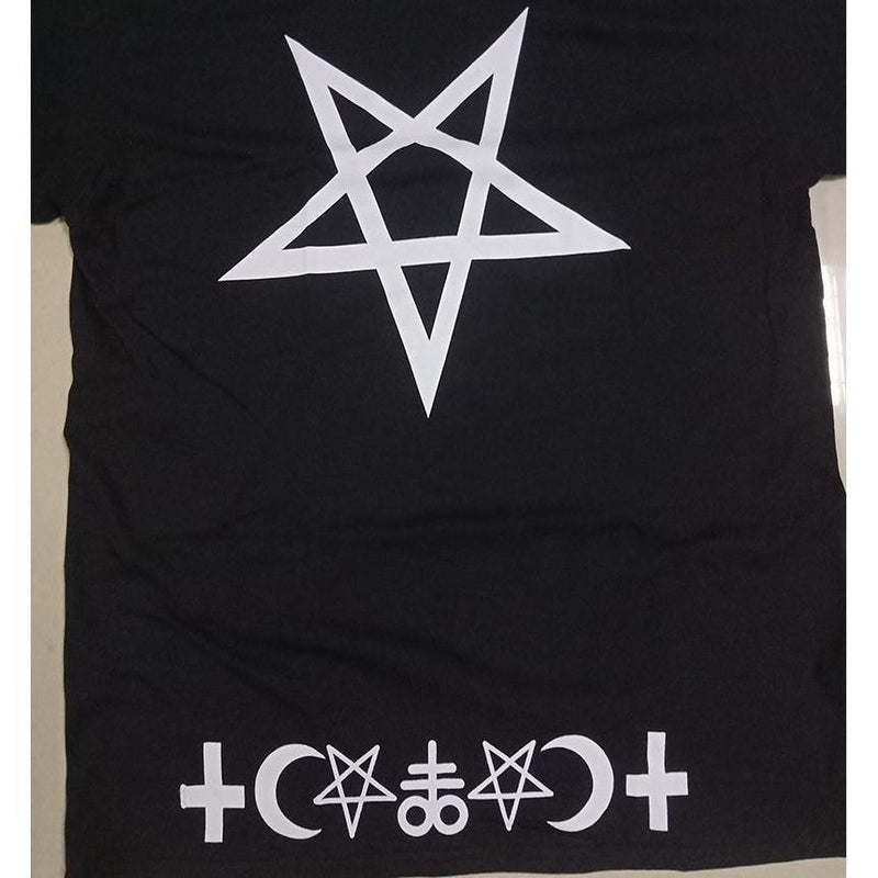 Gothic Cool Design Pentagram Tee - The Black Ravens