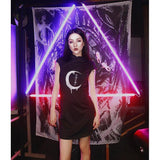 Gothic Crescent Moon Japanese Style Dress-