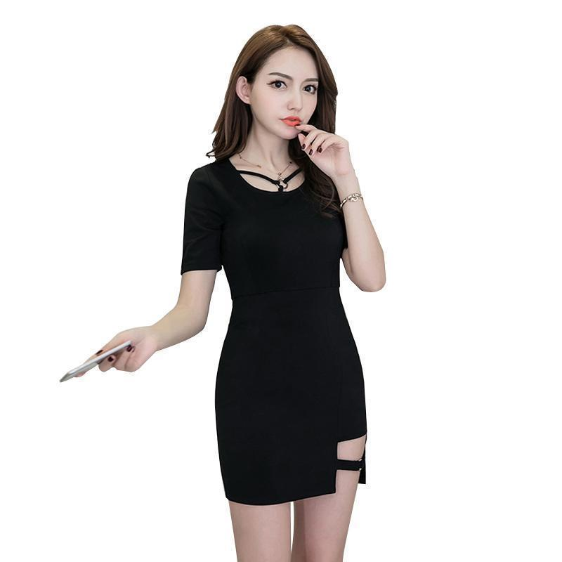 Gothic Girls Sexy Thigh Mini Dress-S-