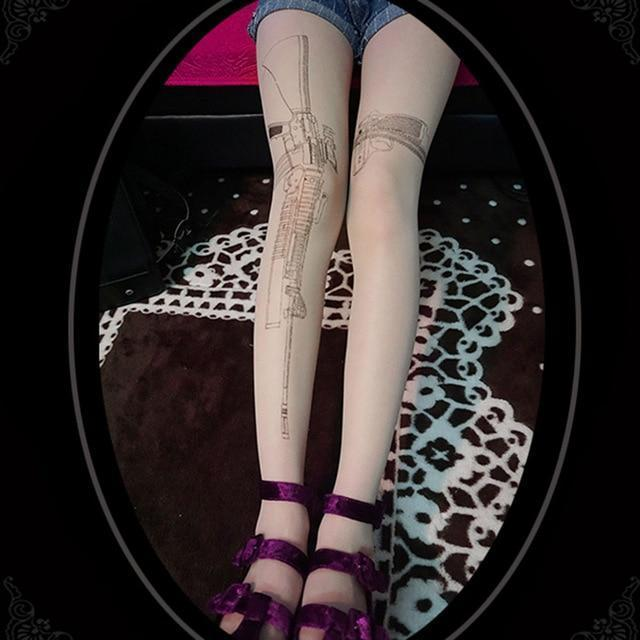 Gothic Ladies' Halloween Prints Sexy Stockings - The Black Ravens