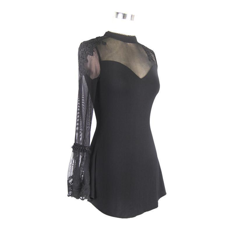 Gothic Lady Sexy Transparent Sleeveless Top - The Black Ravens