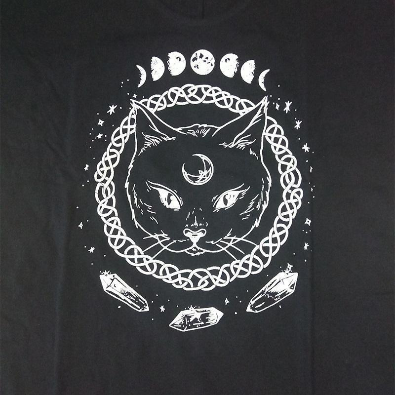 Gothic Moon Phase Kitten Dresses - The Black Ravens