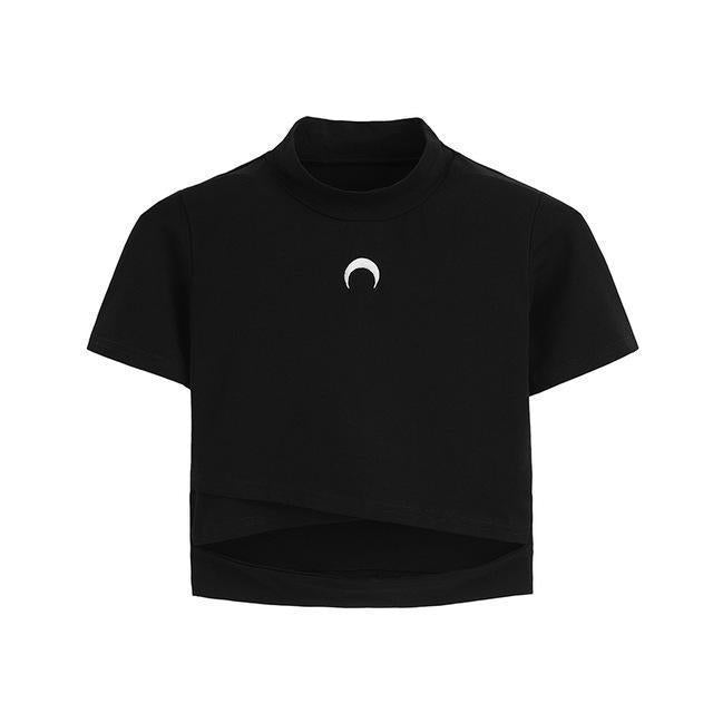 Gothic Moon Sexy Bandage Girl's Tee - The Black Ravens