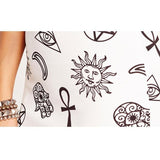 Gothic Symbol Prints Sexy Mini Skirt-S-