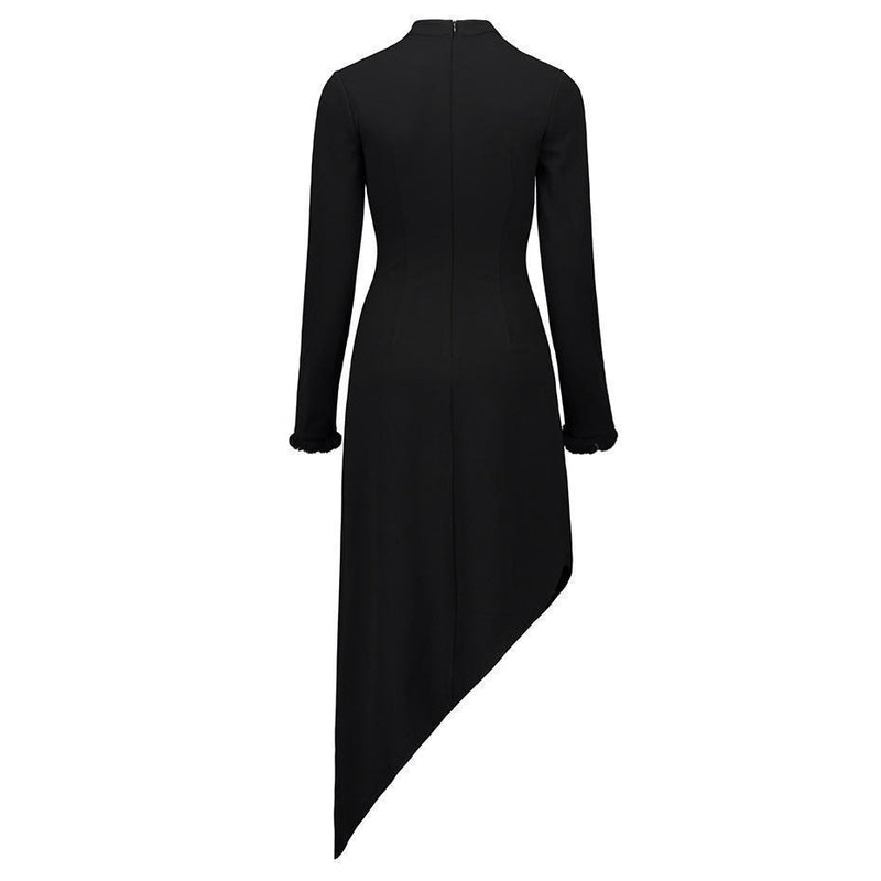 Gothic Women Black Autumn Long Dresses - The Black Ravens