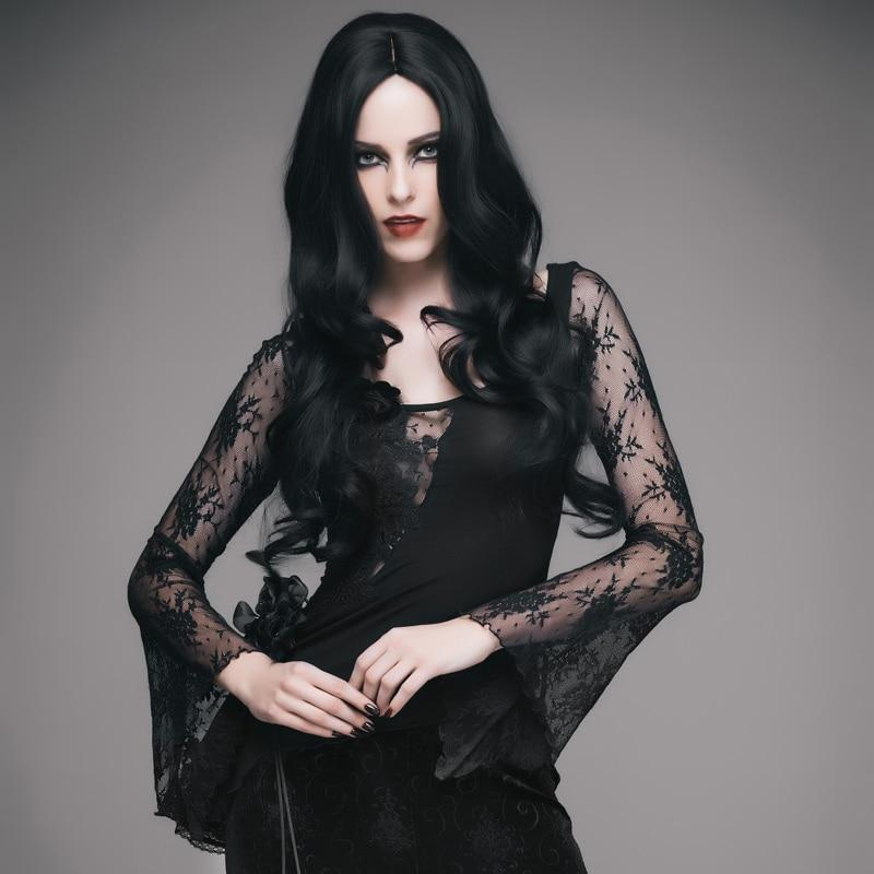Gothic Women Lace Top-S-