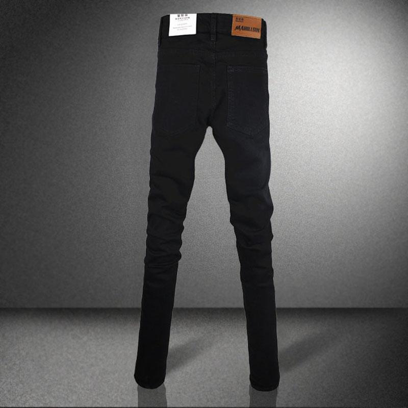 Guys Super Black Skinny Jeans - The Black Ravens
