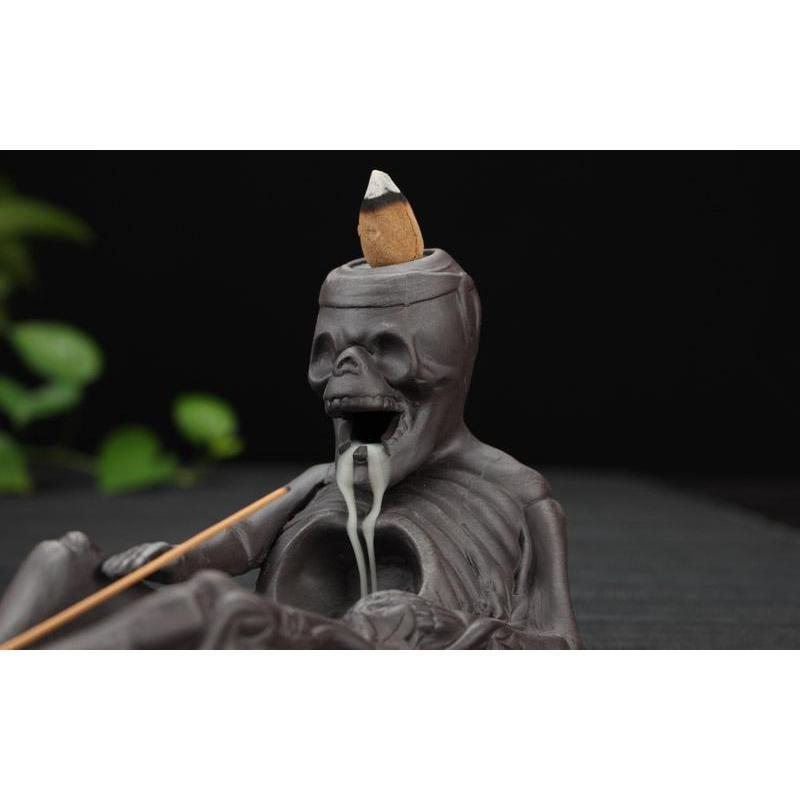 Handmade Decorative Tibetan Skeleton Incense Burners-