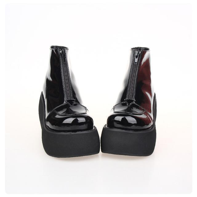 High Heel Thick Platform Lolita Wedge-Black Pl 8Cm Heel-11-
