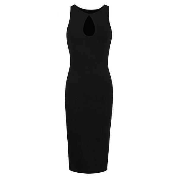 Hollow Chest Black Bodycon - The Black Ravens