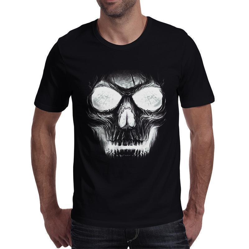 Hollow White Skull Creepy Top For Men - The Black Ravens