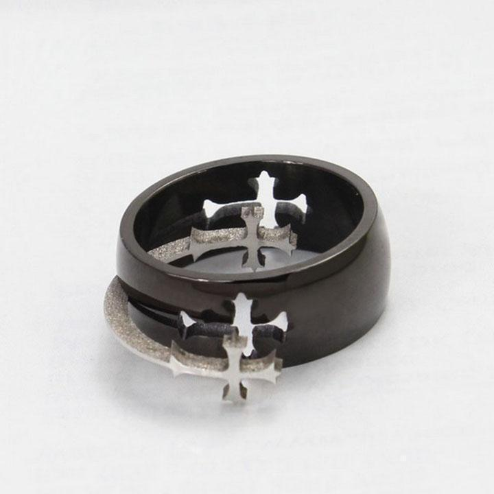 Holy-Cross Titanium Rings-10-Silver-