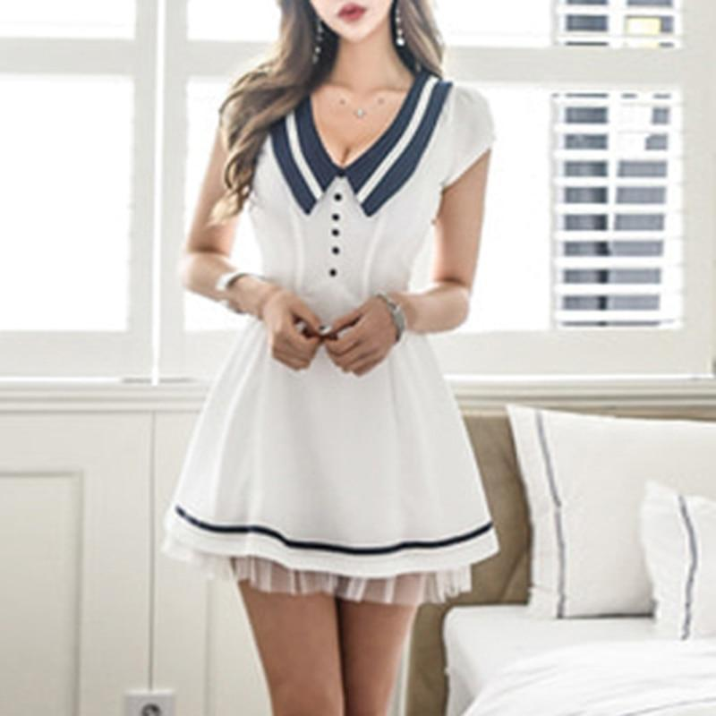 Hot and Sexy Women's Sailor Mini Dress - The Black Ravens