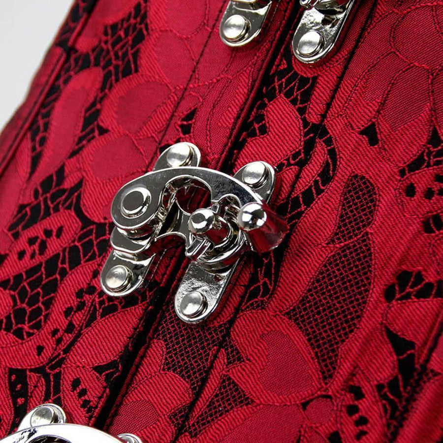 a5260217b9 Buy Sexy Open Chest Red Victorian Style Steampunk Corset For Women ...