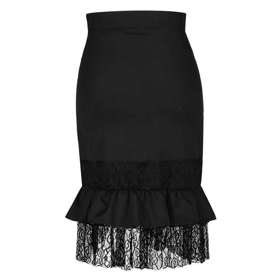 Hot Buckle Asymmetrical Punk Skirts - The Black Ravens