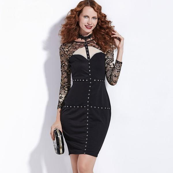 Hot Ladies Short Rocker Dresses - The Black Ravens