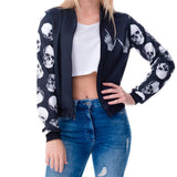 Hot Punk Skull And Rebellion Coats For Women-
