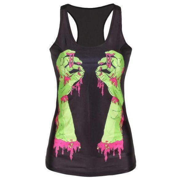 Hot Rainbow Floral Skeleton Head T-Shirt-Zombie-S-
