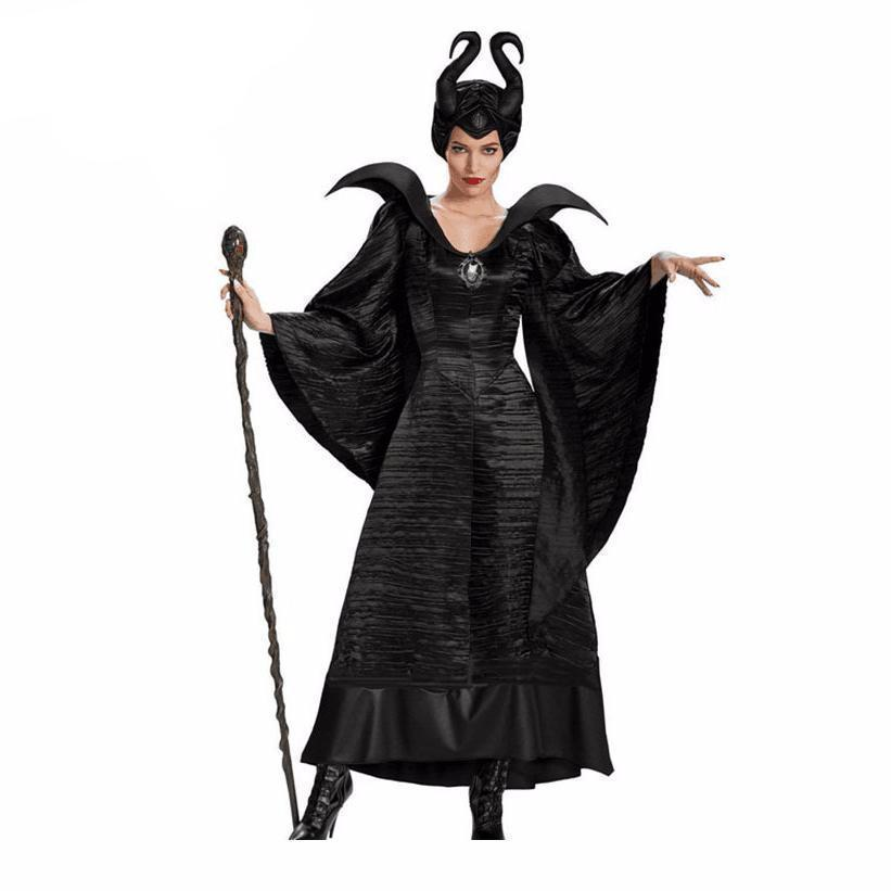 Hot Women's Angelina Jolie Designed Villain Costume - The Black Ravens