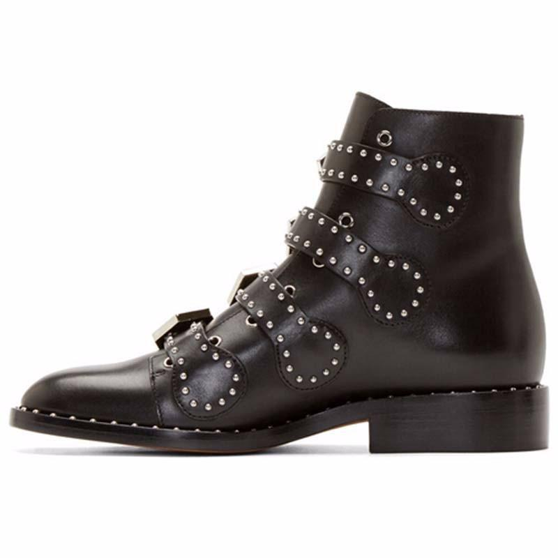 Hot Women's Kickass Real Leather Shoes - The Black Ravens