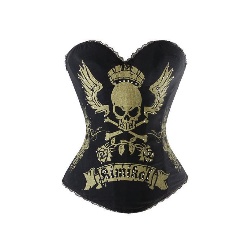 Hot Womens Skulls And Bones Hourglass Corset-S-