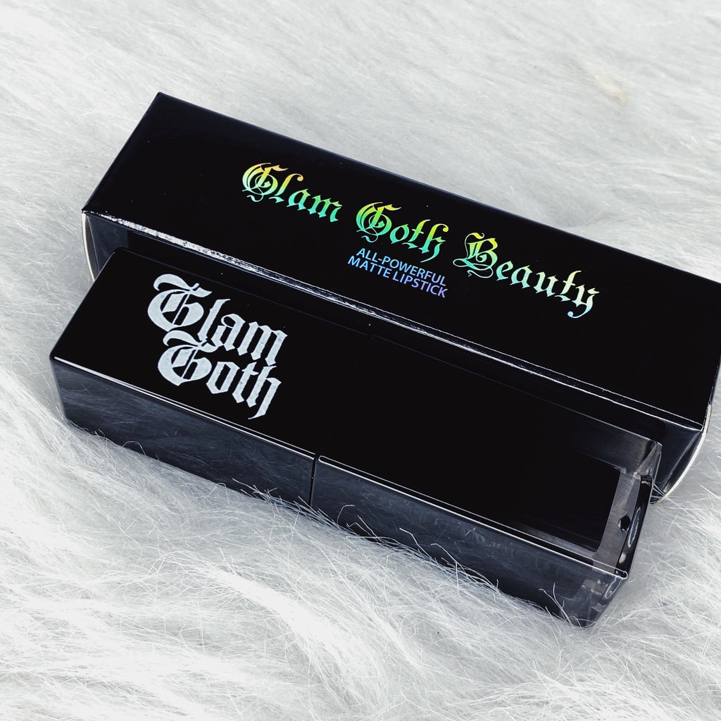 Glam Goth Beauty Lipstick Nightmare - The Black Ravens