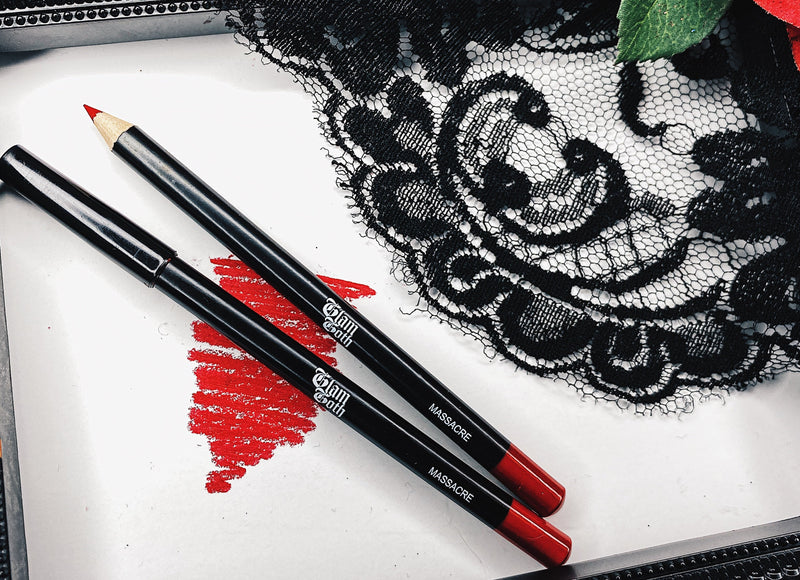Glam Goth Beauty Lip Liner Masacre - The Black Ravens