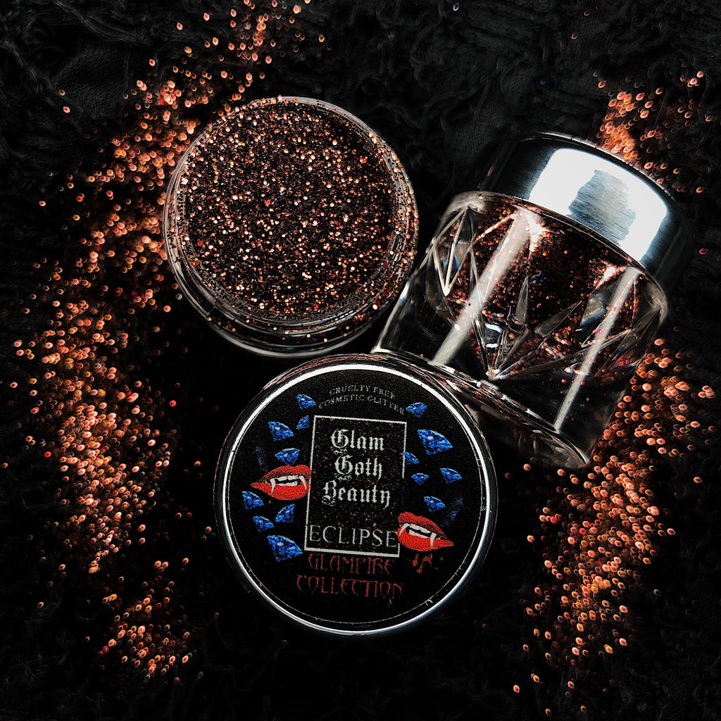 Glam Goth Beauty Glitter Diamond Eclipse - The Black Ravens