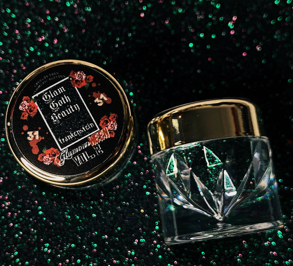 Glam Goth Beauty Glitter Diamond Frankenstein - The Black Ravens
