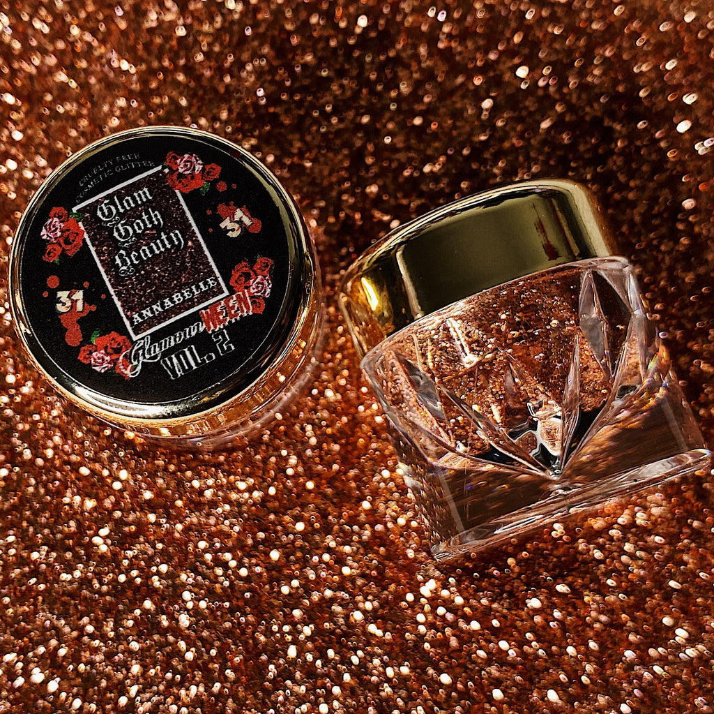 Glam Goth Beauty Glitter Diamond Annabelle - The Black Ravens