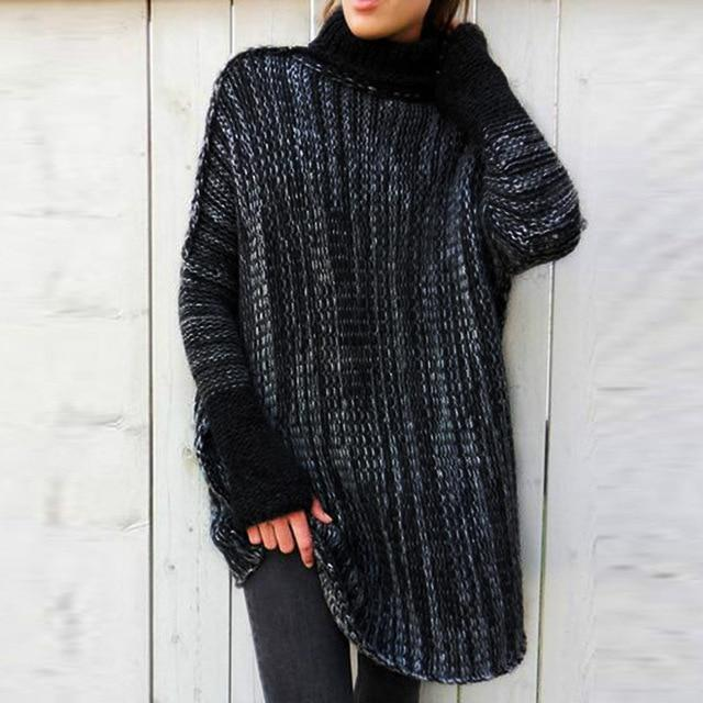 Knitted Winter Sweater For Women - The Black Ravens