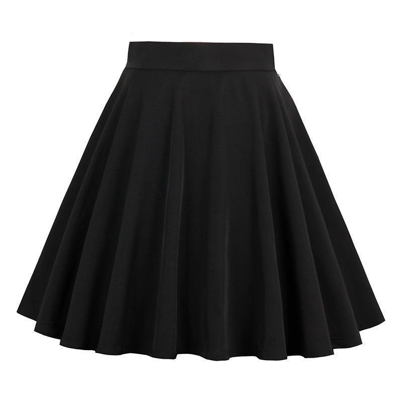 Lace-Up Black Lolita Mini Skirts - The Black Ravens