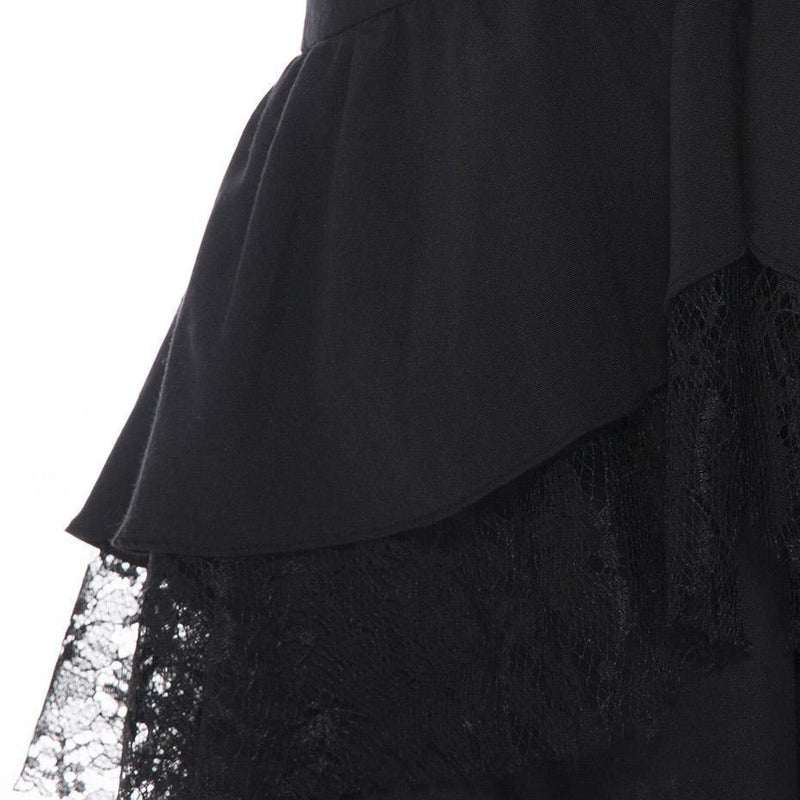 Lacey Fishtail Vintage Gothic Skirts - The Black Ravens