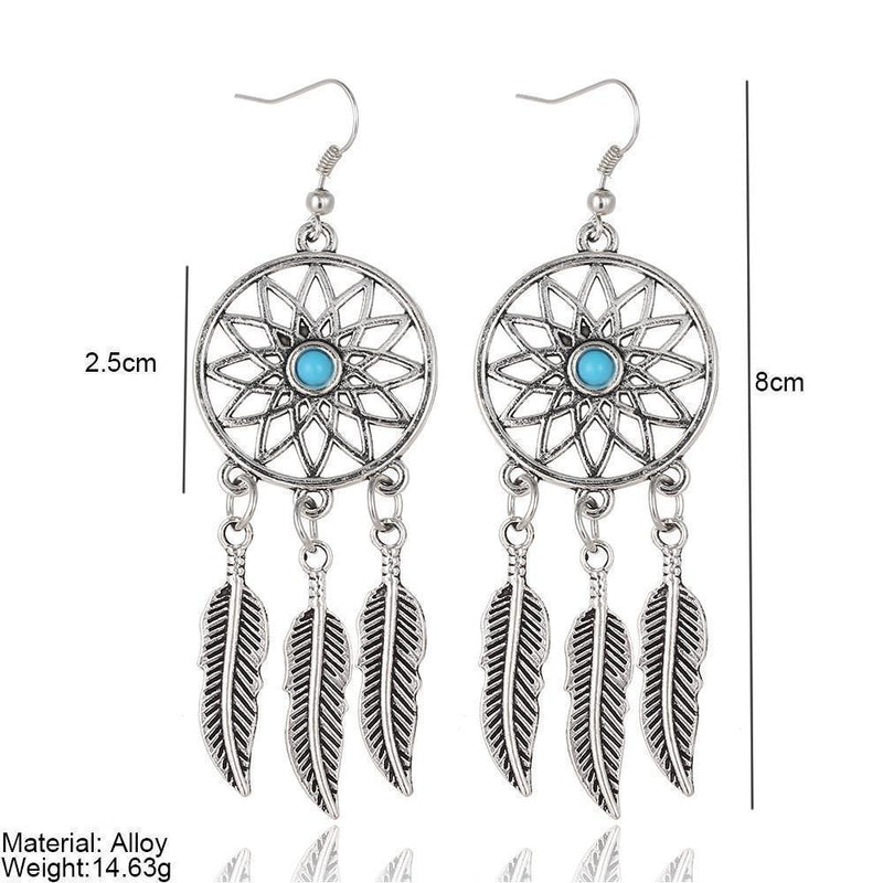 Ladies Beautiful Native American Spiritual Earring-
