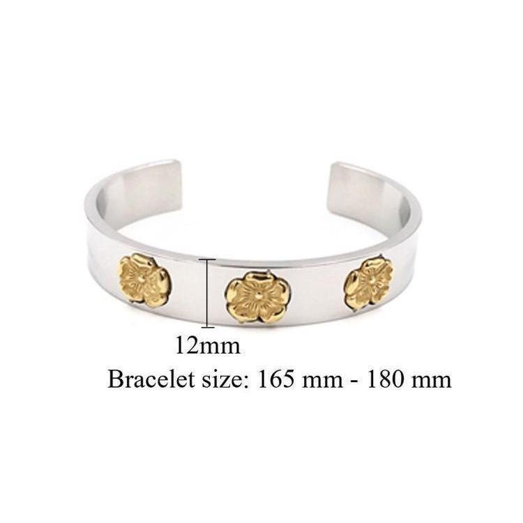Ladies Cute Gold-Plated Flowery Bracelets - The Black Ravens