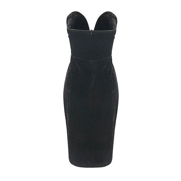 Ladies' Elegant Strapless Bodycon - The Black Ravens