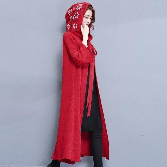 Ladies' Flashy Vintage Style Red Cape-