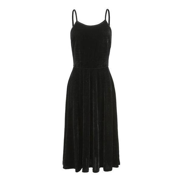 Ladies' Gothic Sexy Back Dress-Black-S-